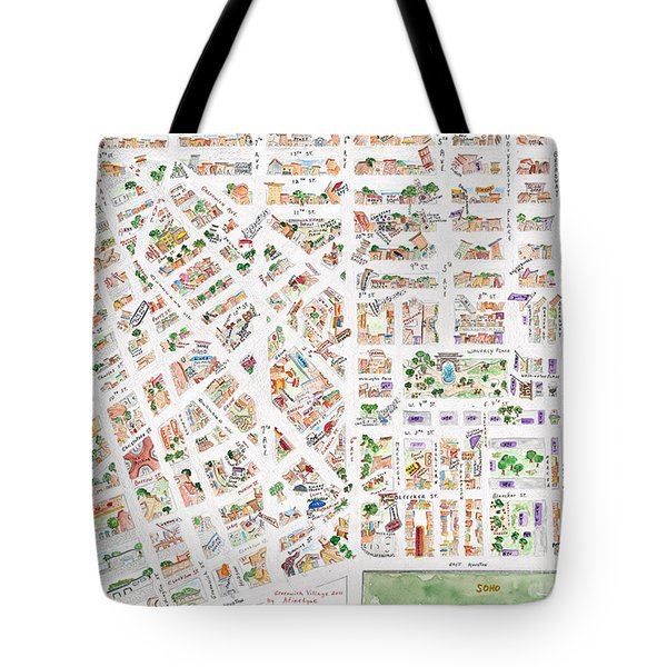 The Greenwich Village Map Tote Bag