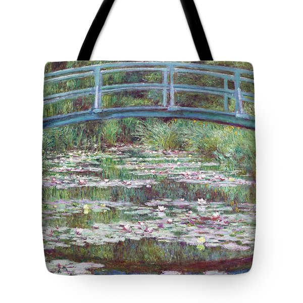 The Japanese Footbridge Tote Bag by Claude Monet