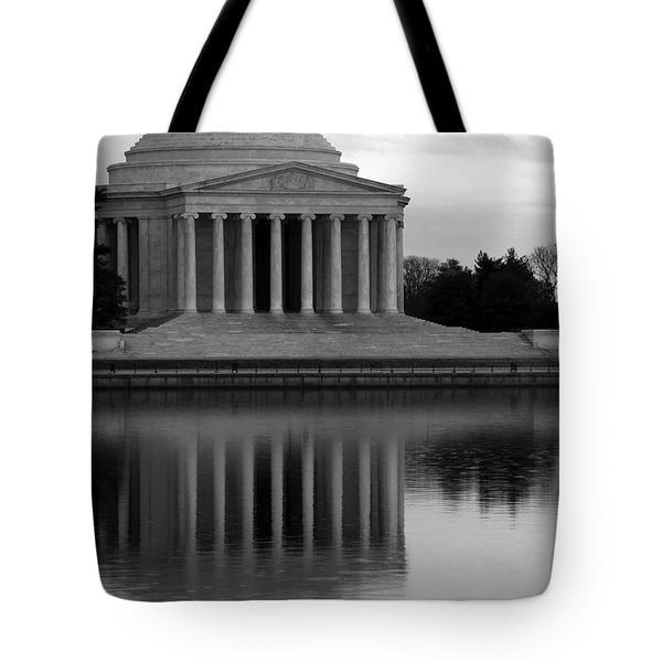 Tote Bag featuring the photograph The Jefferson Memorial by Cora Wandel