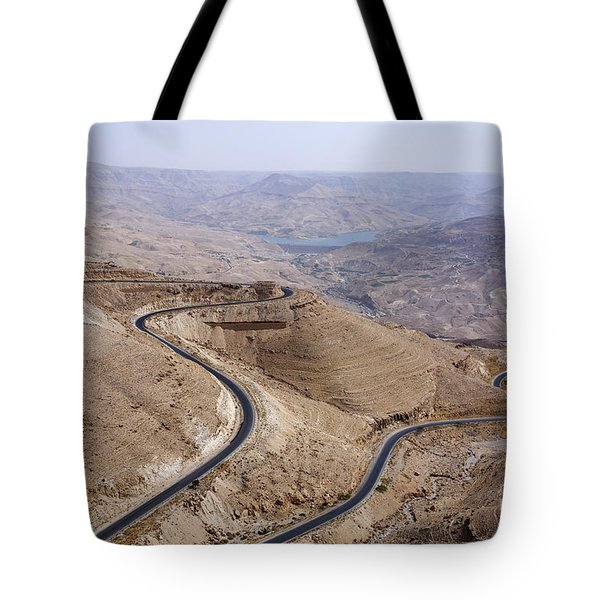The Kings Highway At Wadi Mujib Jordan Tote Bag by Robert Preston