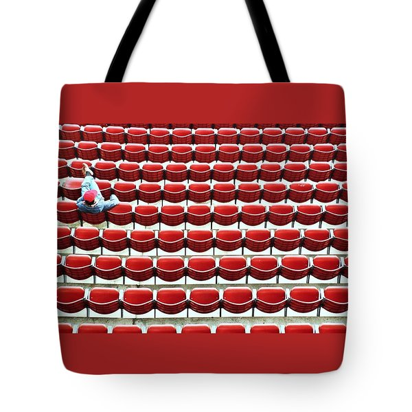 The Lone Fan Tote Bag by Allen Beatty