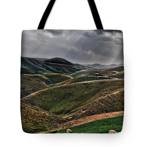 The Lord Is My Shepherd Judean Hills Israel Tote Bag