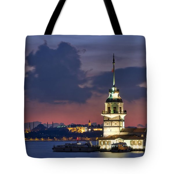 The Maiden's Tower Tote Bag by Ayhan Altun