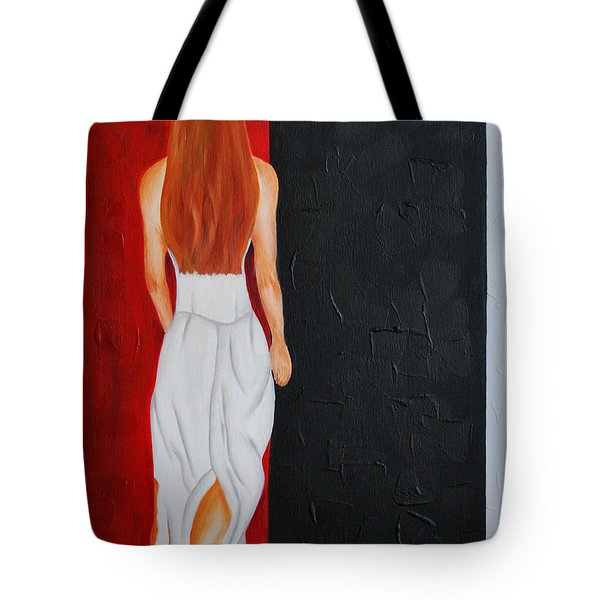 The Mystery Woman Tote Bag