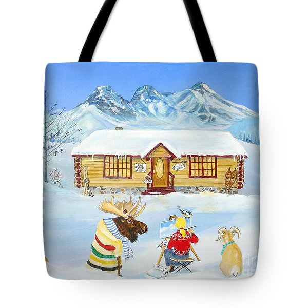 The Painting Lesson Tote Bag by Virginia Ann Hemingson