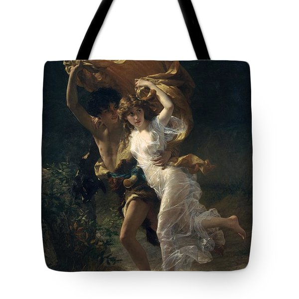 Tote Bag featuring the painting The Storm by Pierre Auguste Cot