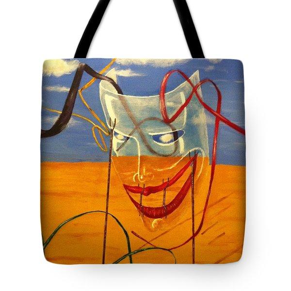 The Transparent Mask Tote Bag by Safa Al-Rubaye