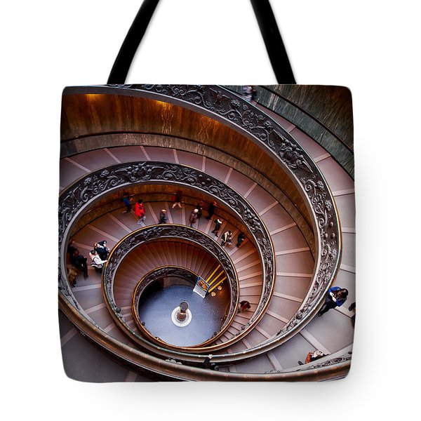 The Vatican Stairs Tote Bag by Jouko Lehto