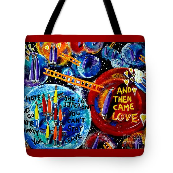 Tote Bag featuring the painting Then Came Love by Jackie Carpenter