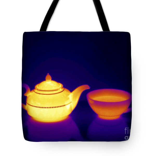 Thermogram Of Teapot And Teacup Tote Bag
