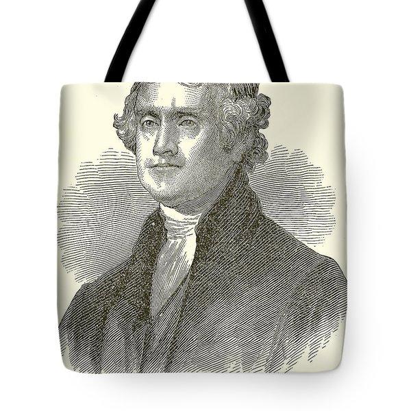 Thomas Jefferson Tote Bag by English School