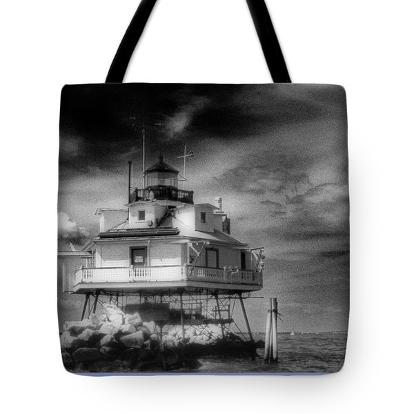 Thomas Point Shoal Lighthouse Bnw Tote Bag