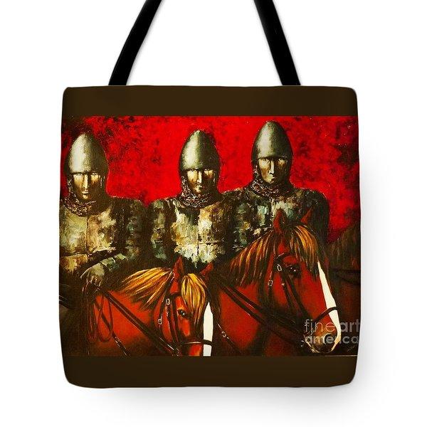 Three Knights Tote Bag