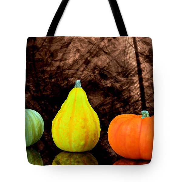 Three Small Pumpkins  Tote Bag by Tommytechno Sweden