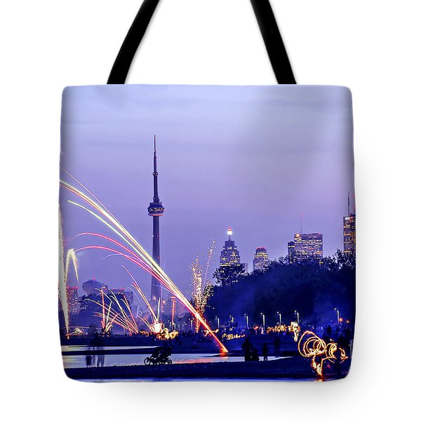 Toronto Fireworks Tote Bag