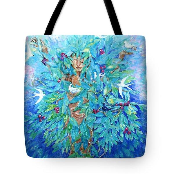 Tree Of Life  Tote Bag by Trudi Doyle