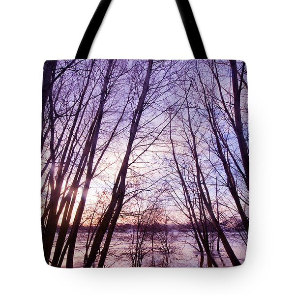 Trees In Water Tote Bag by Michal Bednarek