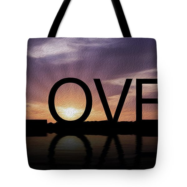 Tropical Sunset Tote Bag by Aged Pixel