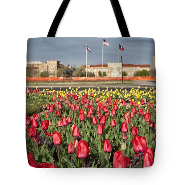 Tulips At Texas Tech University Tote Bag