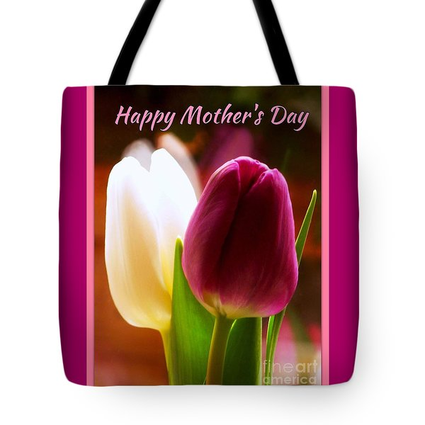 2 Tulips For Mother's Day Tote Bag