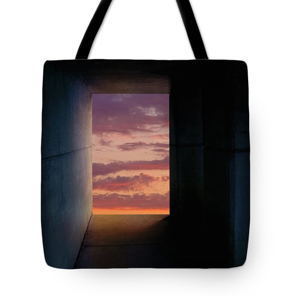 Tunnel With Light Tote Bag by Melinda Fawver