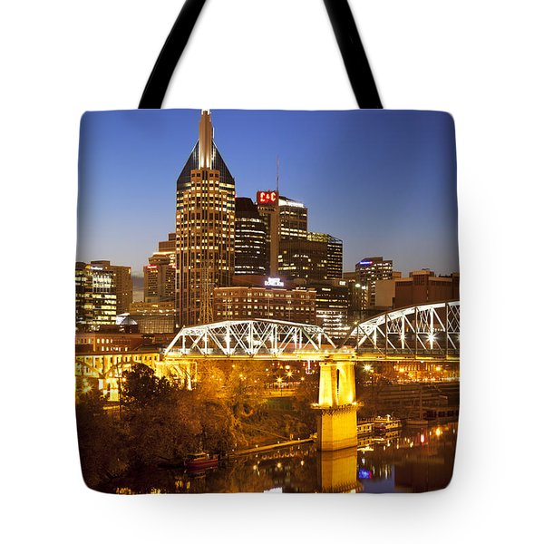 Twilight Over Nashville Tennessee Tote Bag by Brian Jannsen