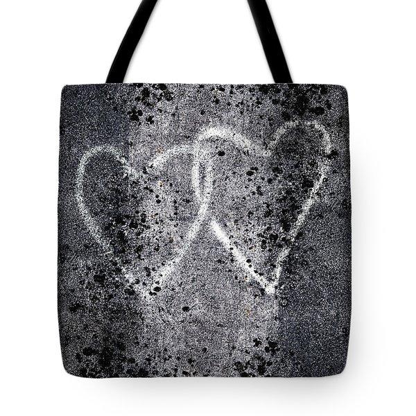 Two Hearts Graffiti Love Tote Bag