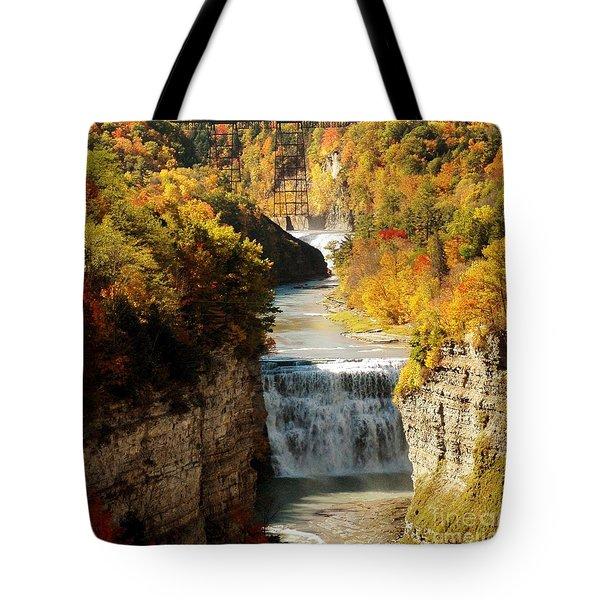 Upper Falls Tote Bag by Kathleen Struckle