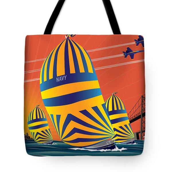 Usna Sunset Sail Tote Bag