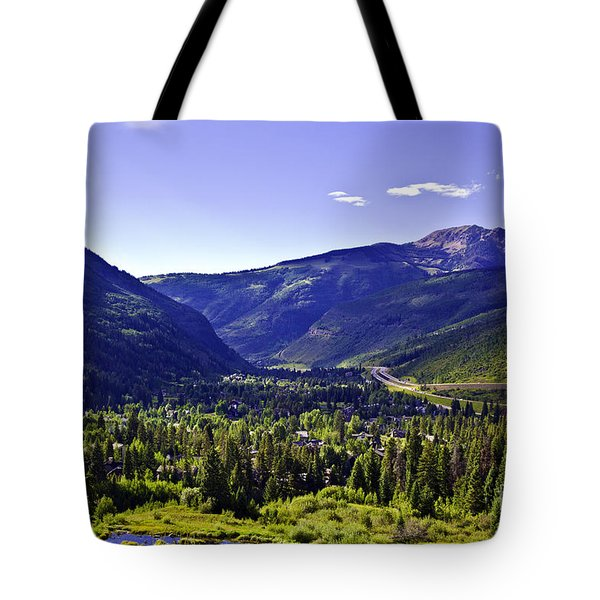 Vail Valley View Tote Bag