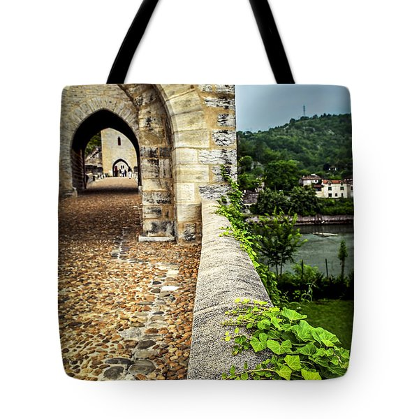 Valentre Bridge In Cahors France Tote Bag by Elena Elisseeva