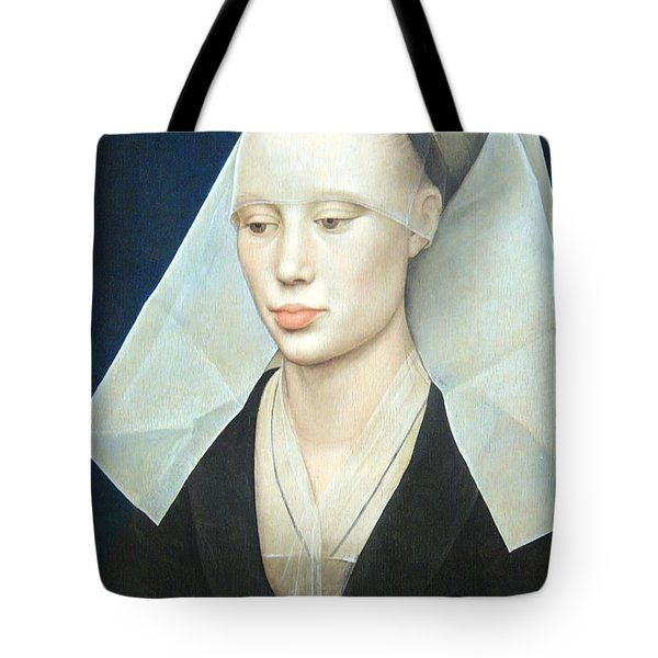 Tote Bag featuring the photograph Van Der Weyden's Portrait Of A Lady by Cora Wandel