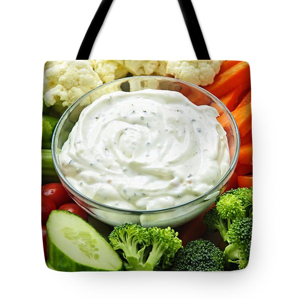 Vegetables And Dip Tote Bag
