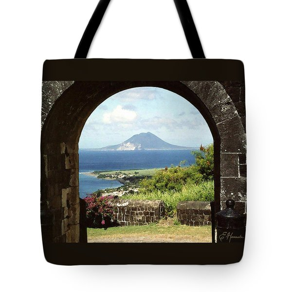 View From Brimstone Hill Fortress Tote Bag by Ellen Henneke