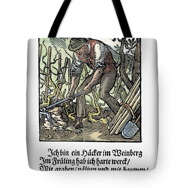 Tote Bag featuring the painting Vinegrower, 1568 by Granger