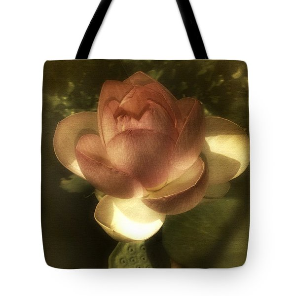 Vintage Lotus Tote Bag