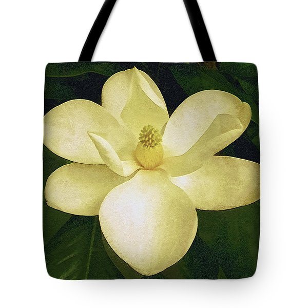 Tote Bag featuring the photograph Vintage Magnolia by Isabella Howard