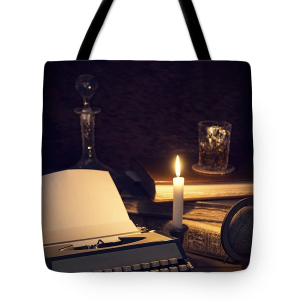 Vintage Typewriter Tote Bag by Amanda Elwell