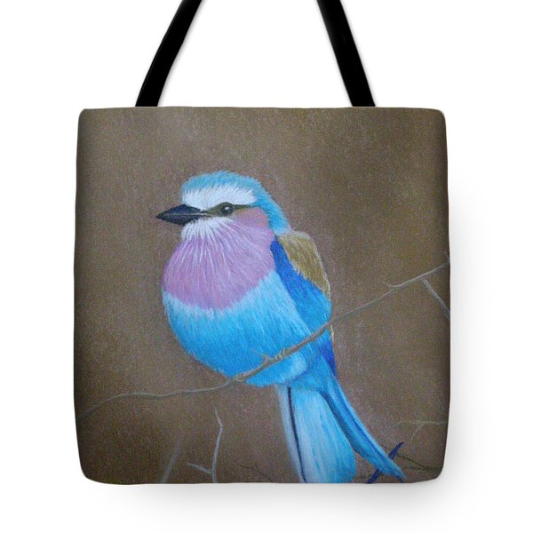 Violet-breasted Roller Bird Tote Bag