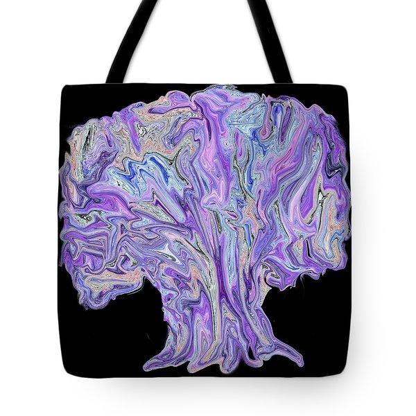 Tote Bag featuring the digital art Vision Tree by Aliceann Carlton