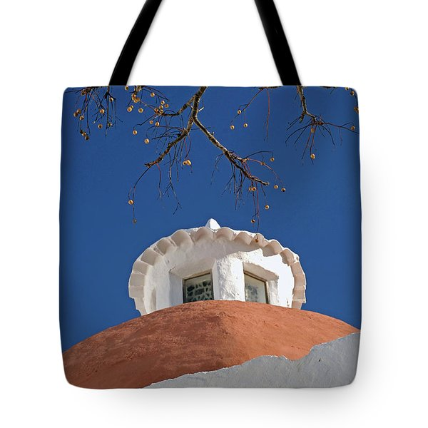Visiting The Puig De Missa Of Santa Tote Bag