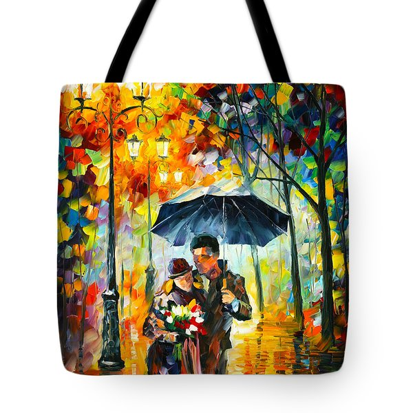Warm Night Tote Bag by Leonid Afremov
