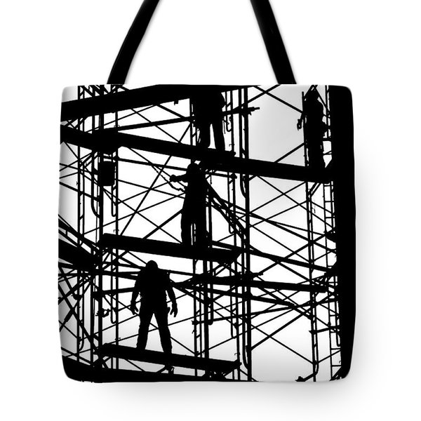 Water Tower Silhouette  Tote Bag by Allen Beatty