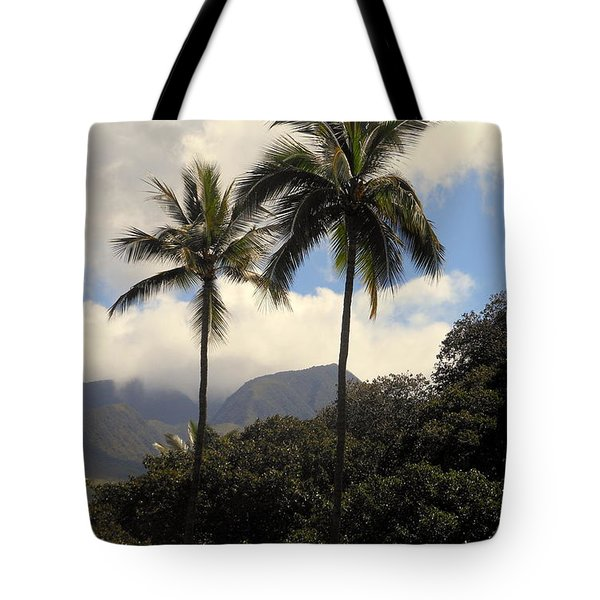 West Maui Mountains Tote Bag by Fred Wilson