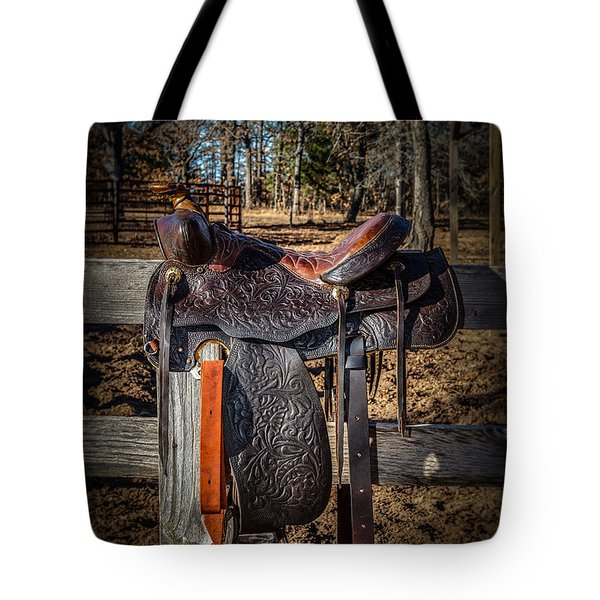 Western Saddle Tote Bag