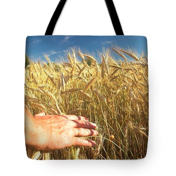 Wheat Field Tote Bag by Michal Bednarek
