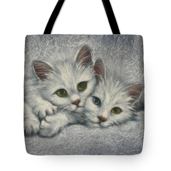 Tote Bag featuring the painting White On White by Cynthia House