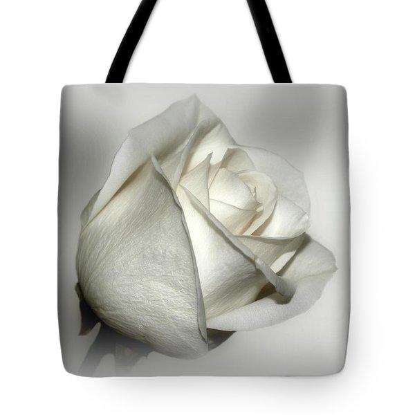 White Rose Tote Bag by Sandy Keeton