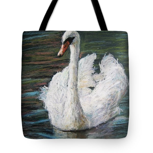 White Swan Tote Bag