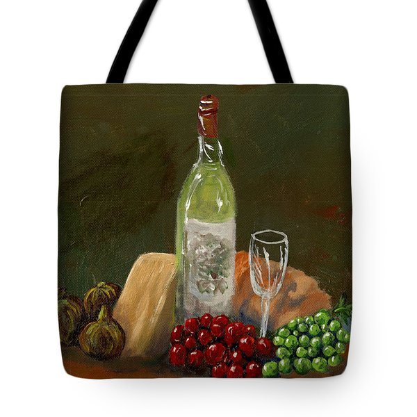 White Wine Tote Bag